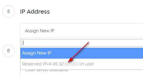 vultr恢复IP