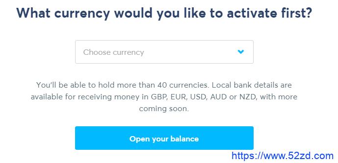transfer wise选择货币